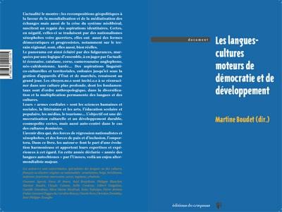 Les langues-cultures moteurs de démocratie et de développement